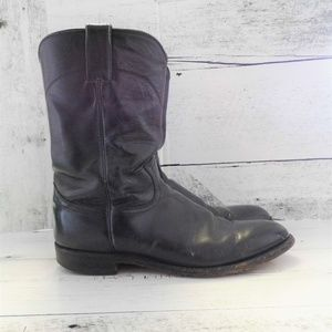 Justin Leather men's Roper style boots